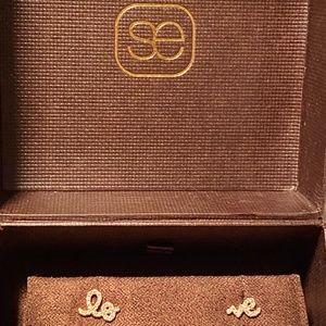 Sydney Evan stud earrings